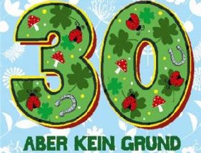 Geburtstagskarte zum 30. Geburtstag mit Überraschung