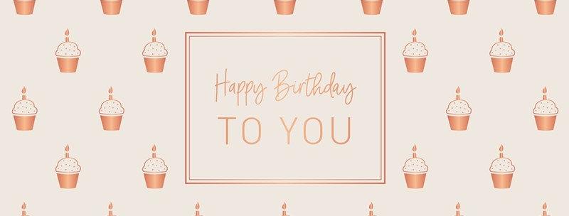 Doppelkarte zum Geburtstag