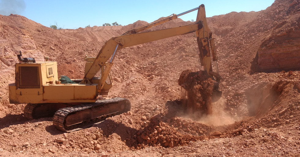 In der Mine in Quennsland