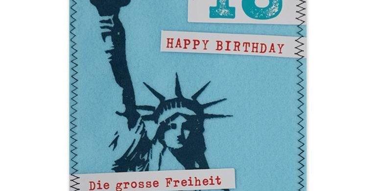Happy Birthday Filzkarte