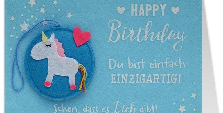 """Geburtstagskarte Happy Birthday """"schön das es dich gibt"""""""