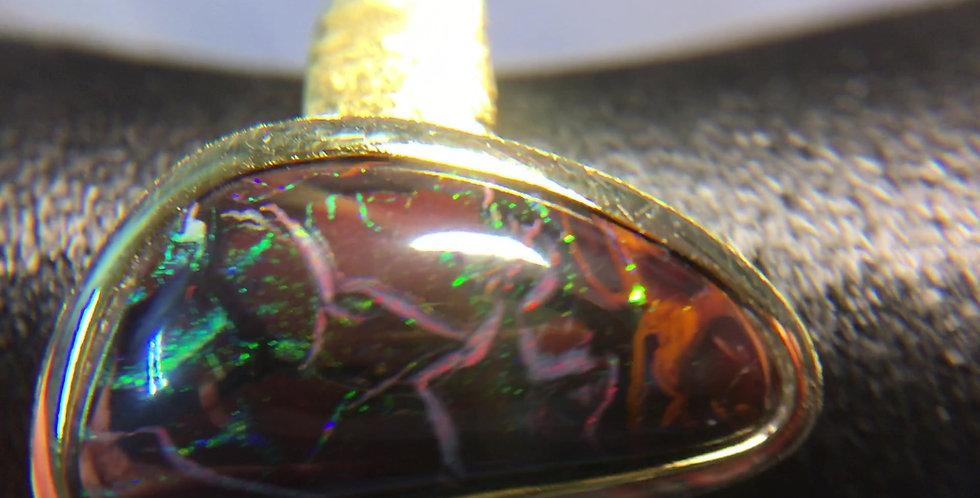 Opalring mit Yowahnuss Opal