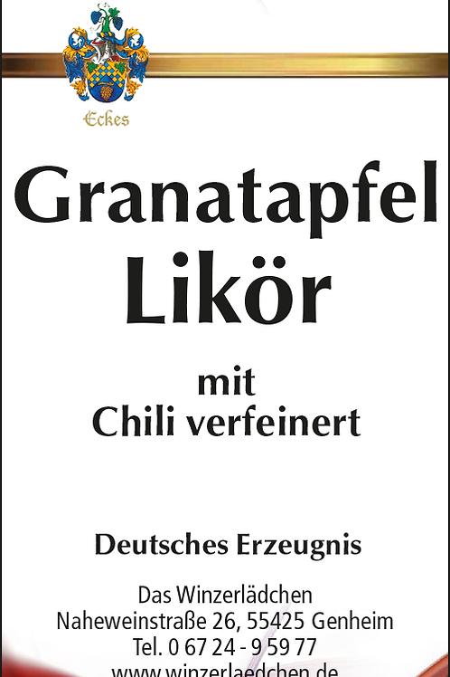 Granatapfel Likör mit Chili verfeinert