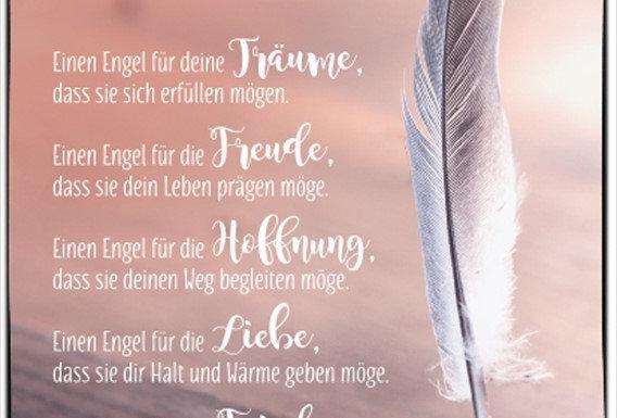Postkarte mit schönem Text