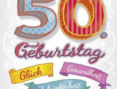 Geburtstagskarte zum 50. Geburtstag mit Überraschung