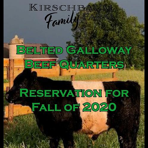 Quarter Beef Reservation