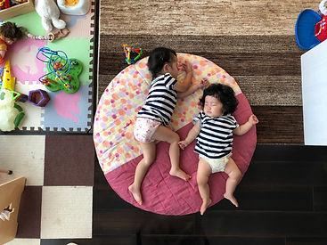 去年の夏。 姉妹そろってスヤスヤお昼寝。