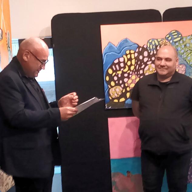 Avec Mr Thierry Colas adjoint à la culture