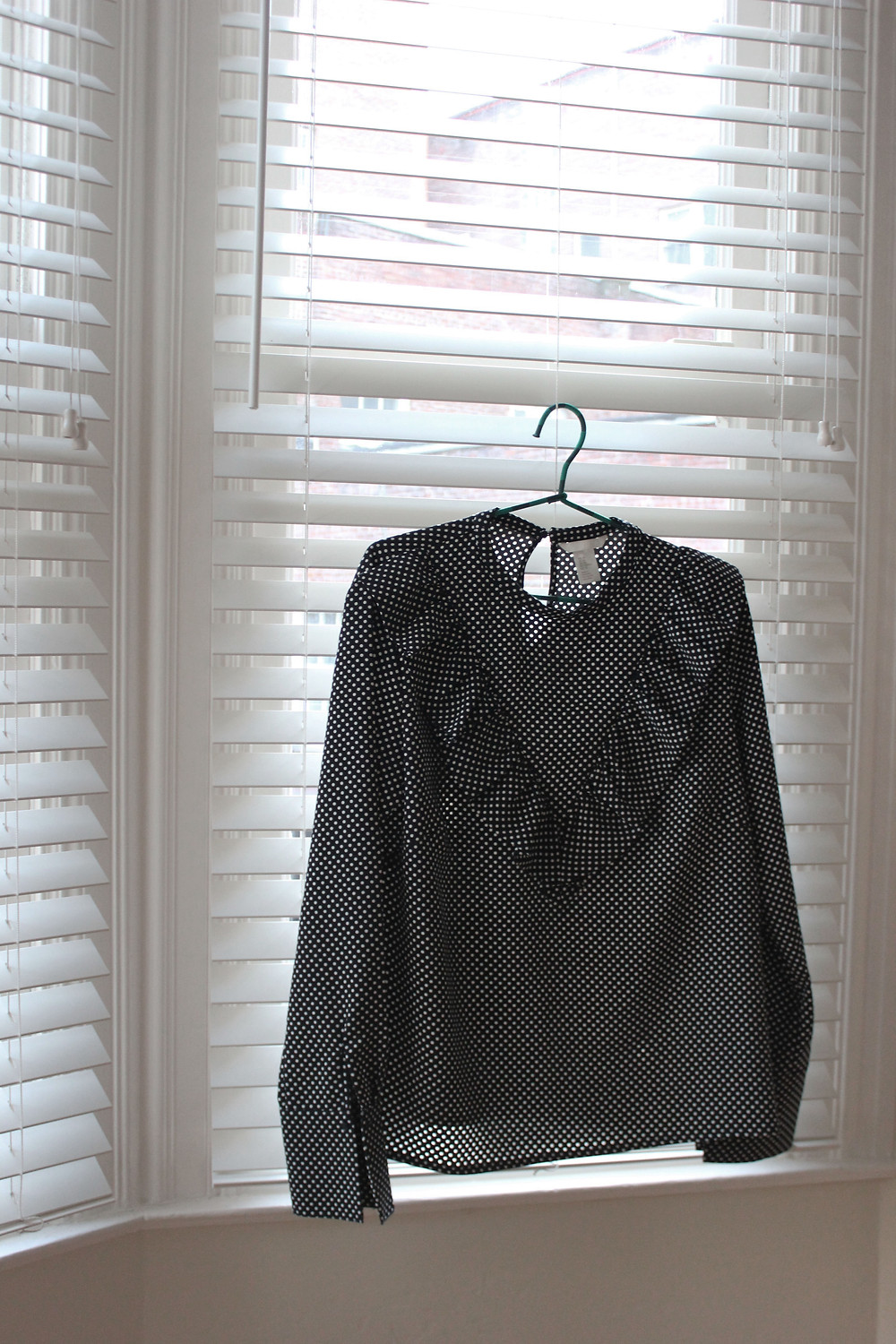 1. Polka dot ruffle blouse I got this top for $10 in H&M just before christmas as a last attempt to get something new for christmas day. I thought it was a bargain and liked it a lot but didn't thing it was special enough for christmas day. Alas I didn't find anything else and stuck with it, turns out I actually really love it and felt comfortable in it all day. I'm loving anything with a ruffle at the moment, and the exaggerated sleeves are always a winner in my book. I feel it can be smart or casual and I can't wait for it to get a bit warmer to pair it with a leather jacket and white trainers.