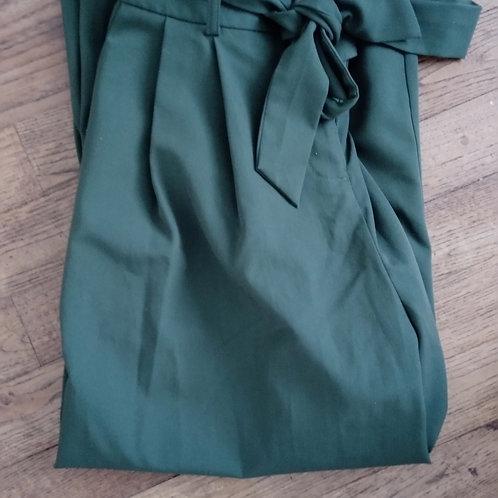 Pantalon jupe-culotte vert