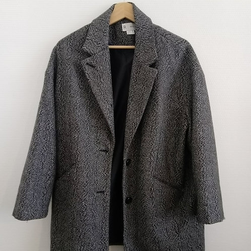 Manteau chiné gris