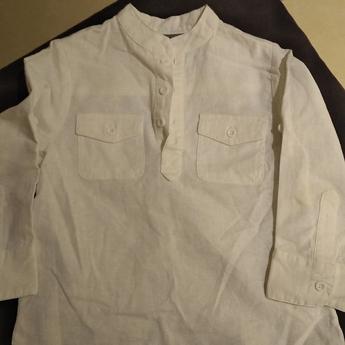 Chemise blanche lin col Mao
