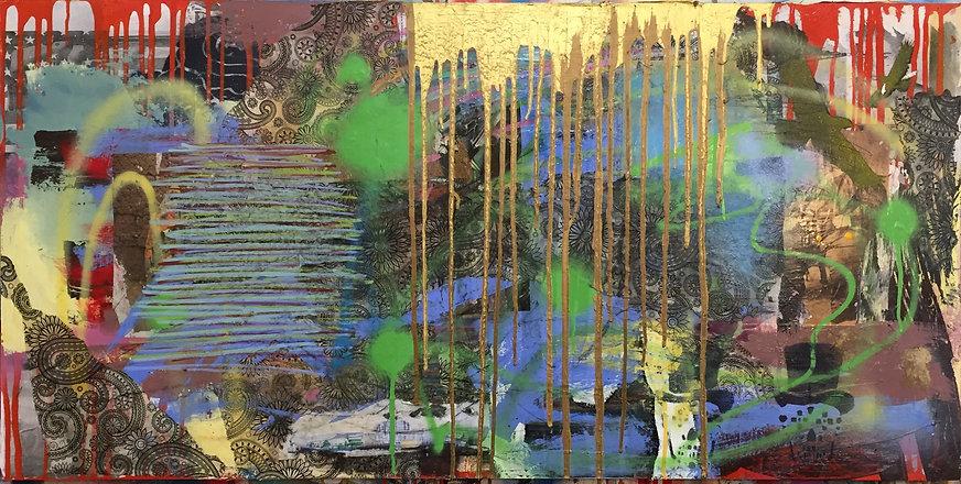 Marsh mixed media on wood panel 24X48.jp