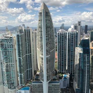 Flyby near Panama's popular J.W. Marriott (formerly the Trump Ocean Club)