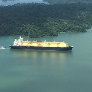 Liquid Natural Gas Ship transiting the Gatún Lake