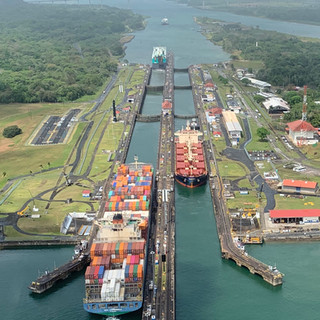 Gatun Locks on the Atlantic Side of the Panama Canal
