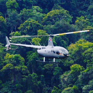 R66 Flying over Panama's tropical jungle