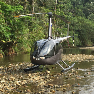 R66 resting on the Chagres River