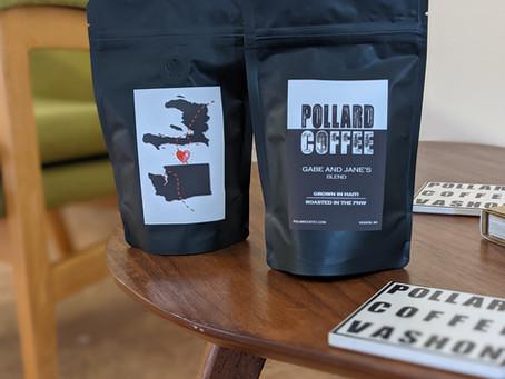 Custom made Haiti Coffee wedding favors