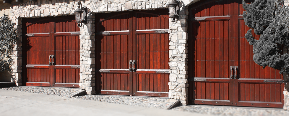 High Contrast Red Garage Doors