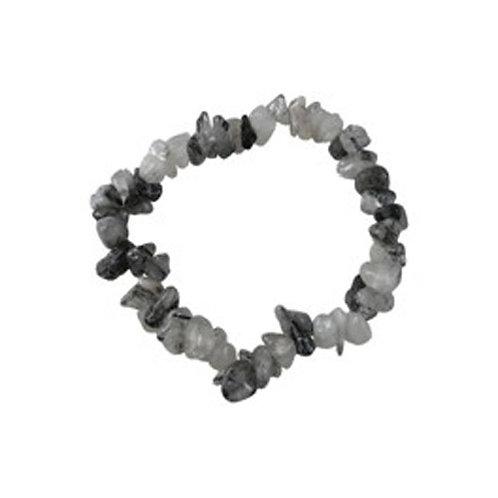 Bracelet en cristal de roche et tourmaline