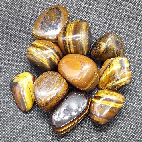 Oeil de fer, tigérite, pierre roulée