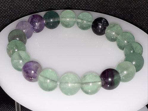 Fluorite, bracelet 10 mm
