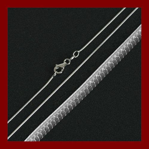 Chaîne serpent 45 cm - 1mm, en argent 925
