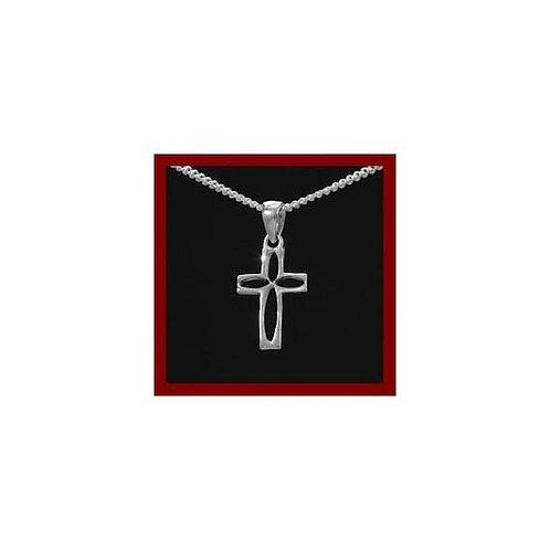 Petite croix en argent 925°/°° rhodier