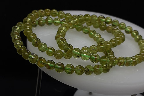 Péridot, bracelet 6 mm