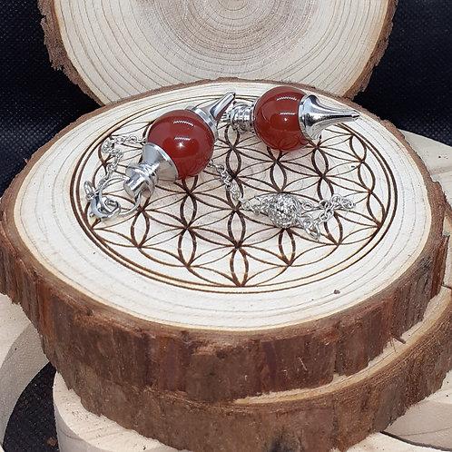 Cornaline, pendule boule (séphoroton)