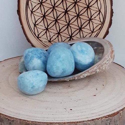 Calcite Bleue, pierre polie