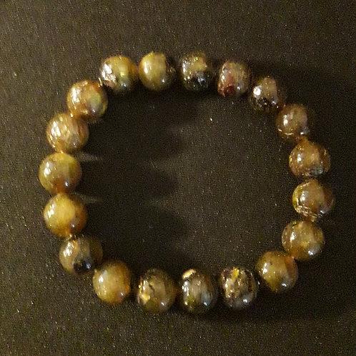 Bracelet perle 10 mm en Labradorite