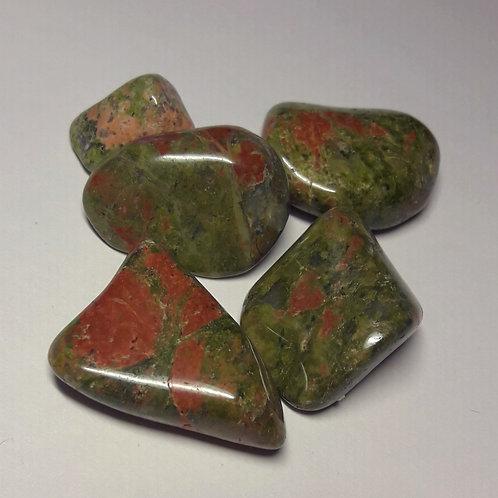 Unakite pierre polie