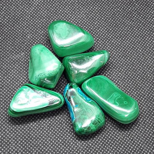 Malachite, pierre roulée