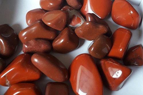Jaspe rouge, pierre roulée