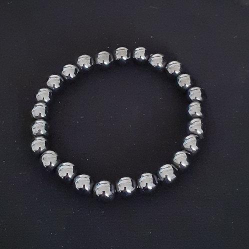 Bracelet boule 8 mm en hématite