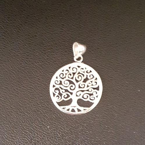 Pendentif Arbre de Vie  20 mm diamètre, en argent 925°/°°