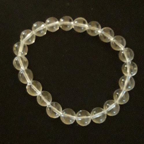 Bracelet boule 8 mm en Cristal de Roche