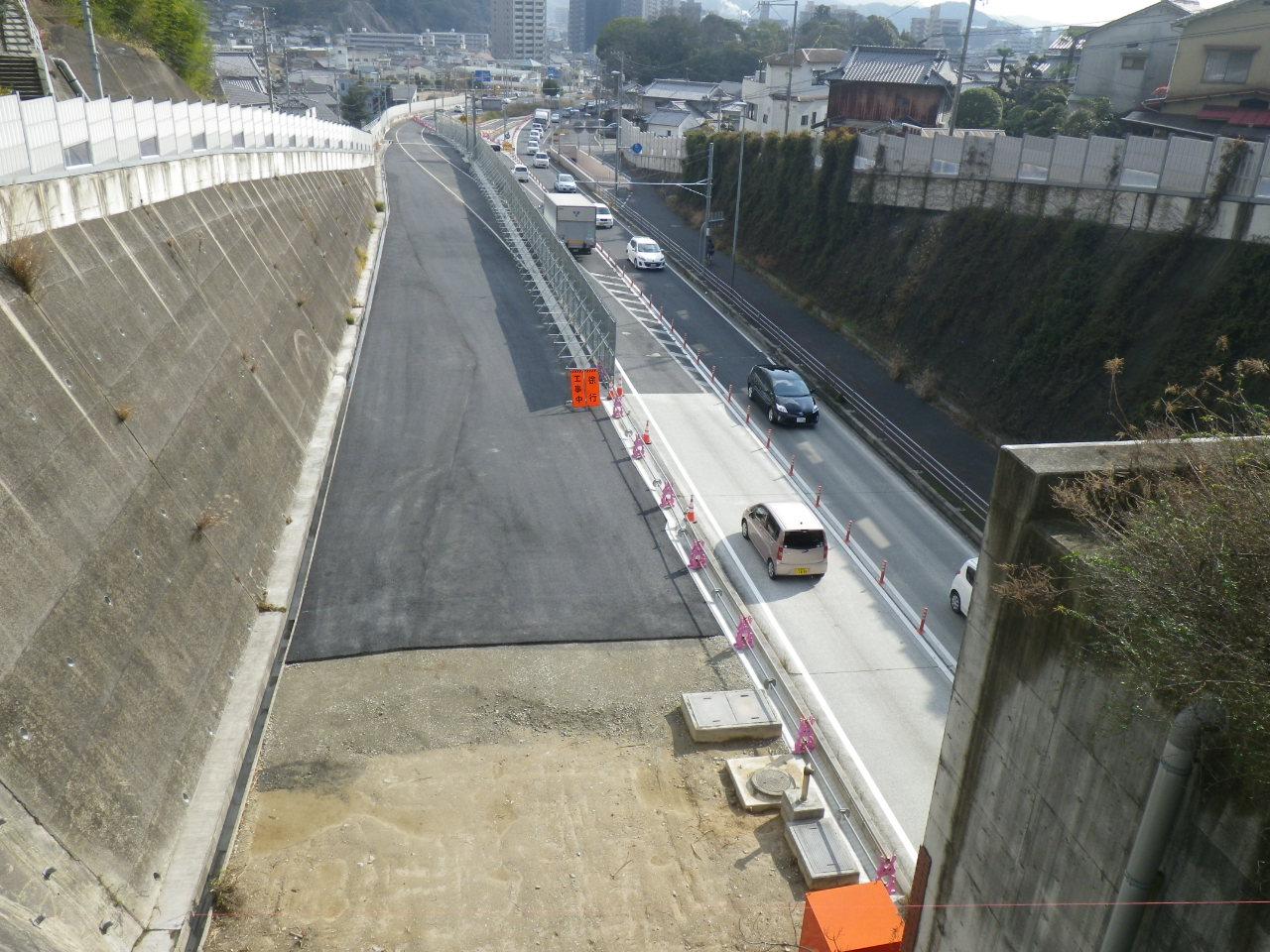 国道198号線 休山トンネルⅡ期準備工事