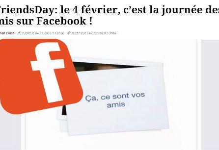 La journée des amis Facebook selon CréaPUB... Conseil gratuit.