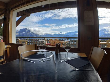 Vue Mont Blanc - Restaurant le Refuge - Cordon 74