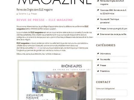 Une Cliente dans ELLE magazine... Ou l'ascension vers la notoriété appuyée par l'image de l'