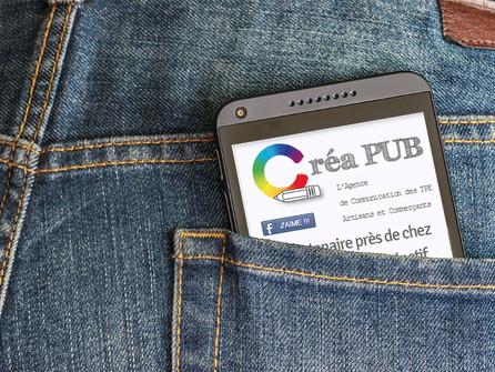 CréaPUB sur votre SmartPhone