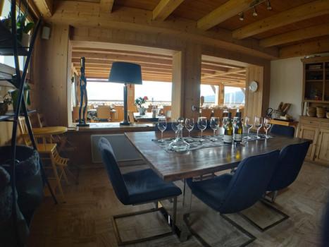 Table alcove VIP - Restaurant le Refuge - Cordon 74