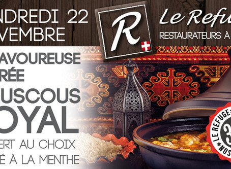 Vendredi 22 novembre au Refuge de Cordon.