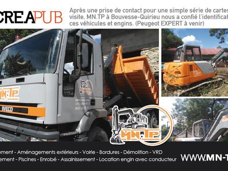 MN.TP - Une nouvelle entreprise locale en TP & TERRASSEMENT avec CréaPUB