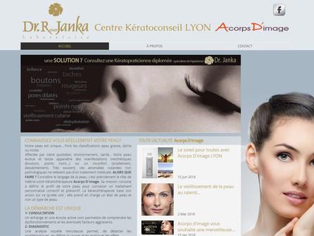 Par CréaPUB, création d'un site lyonnais dédié aux soins de la peau.