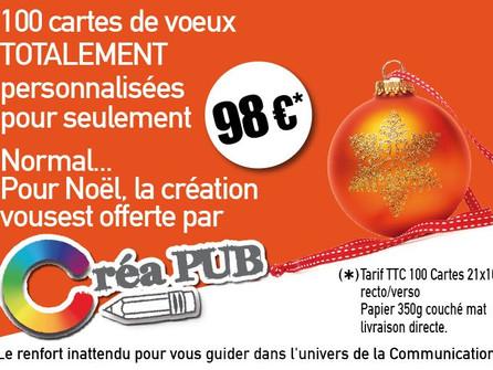 C'est déjà Noël pour les Artisans & Commerçants avec CréaPUB !