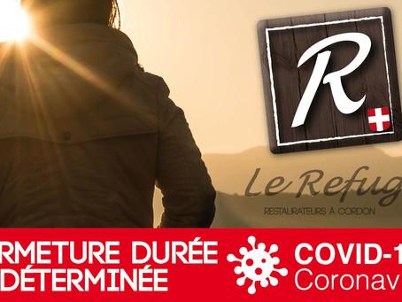 FERMETURE TEMPORAIRE / COVID-19